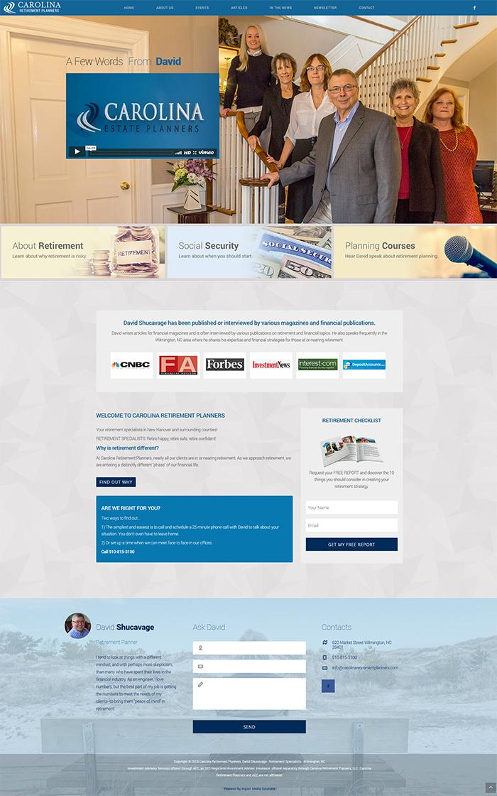 Financial Advisor Web Design