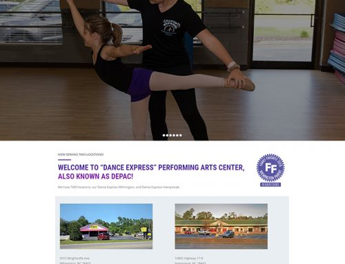 New Web Design for Dance Express!