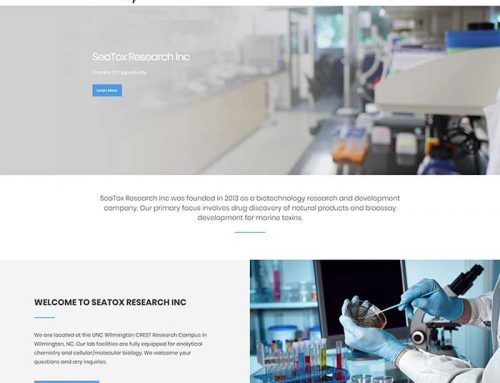 New Website Design for SeaTox Research!