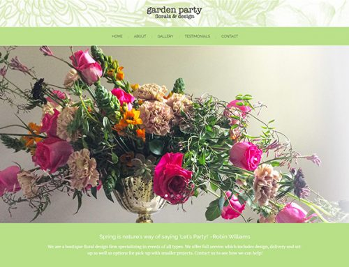 New Web Design for Garden Party Design!