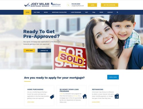 New Mortgage Website in Wilmington!