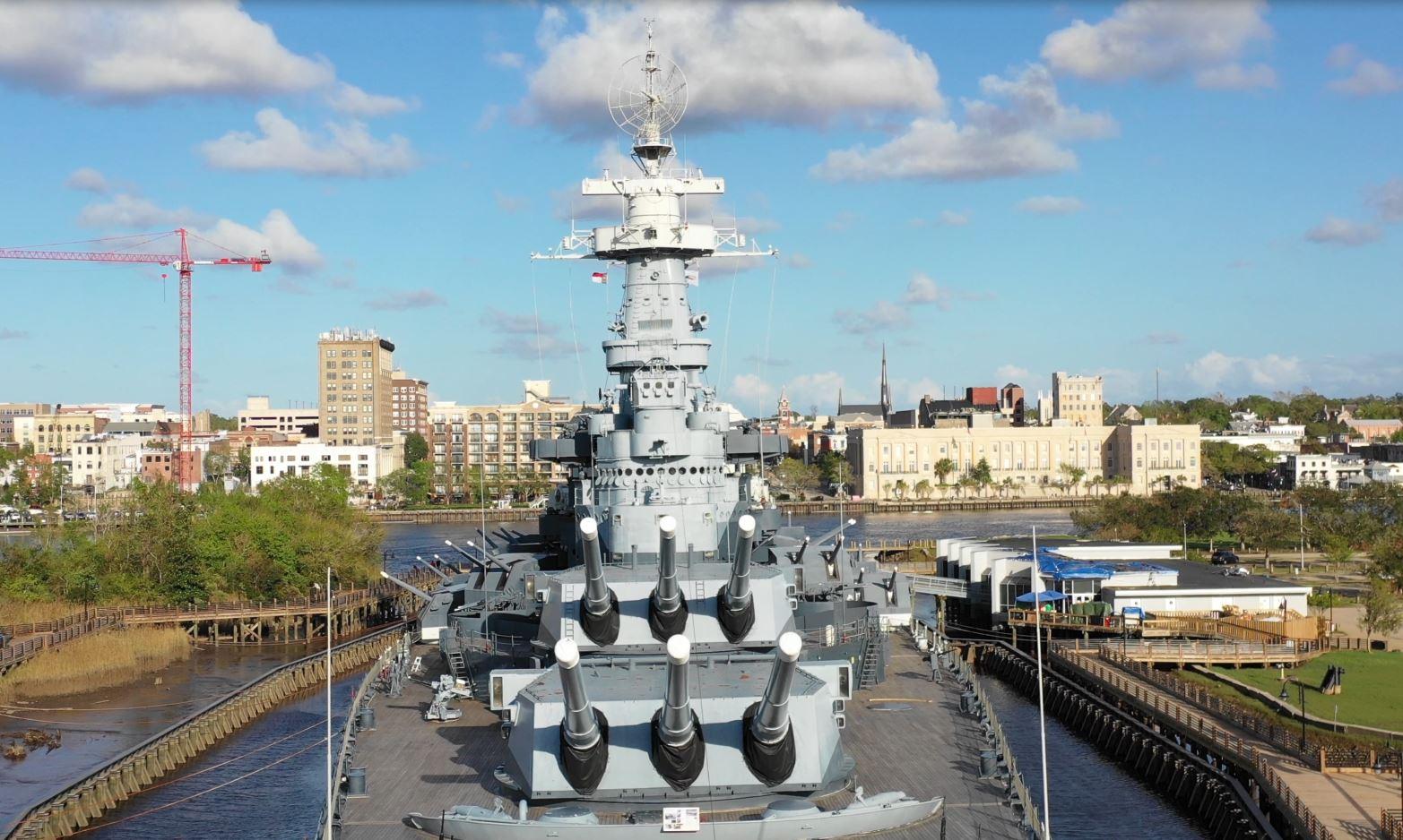 USS NC Battleship Wilmington NC