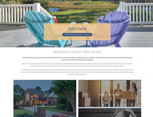 Real Estate Web Design For Discover NC Homes
