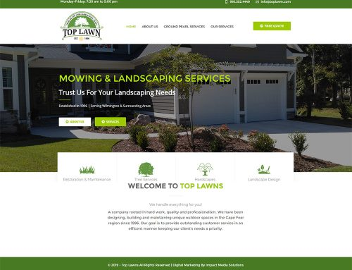 New Landscaping Web Design!