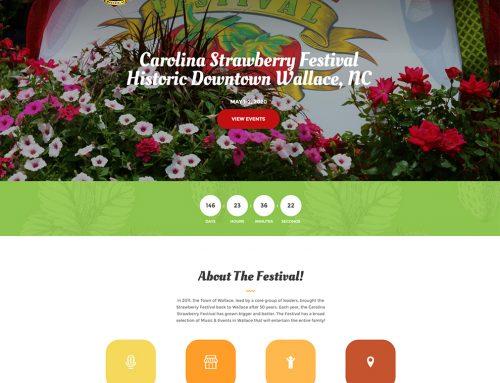 Website Design For Strawberry Festival!