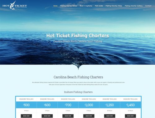 New Web Design for Hot Ticket Fishing Charters!