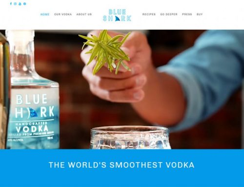 New Web Design for Blue Shark Vodka!